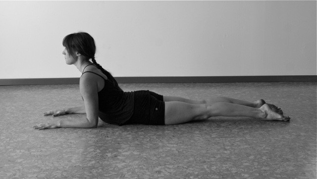 yoga core strength - sphinx